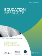 Archives of disease in childhood - Education & practice edition: 97 (4)