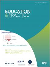 Archives of disease in childhood - Education & practice edition: 98 (4)